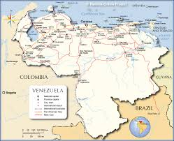 Map Of Southern Caribbean by Detailed Map Of Venezuela Nations Online Project