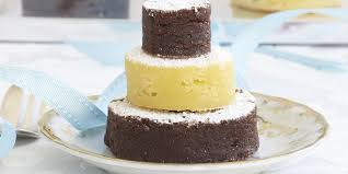 mini wedding cakes brownie and blondie mini wedding cakes recipesplus