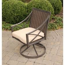 agio davenport outdoor swivel rocker with woven back westrich