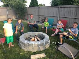 fire pit in backyard keeping it simple how to build a diy fire pit for only 60