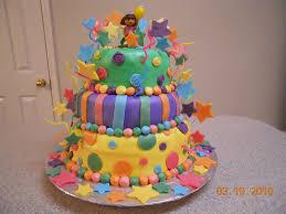 amazing birthday cake with dora
