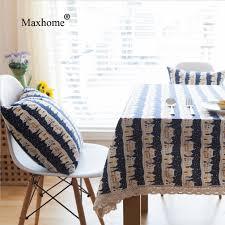 christmas tablecloth deep blue snowman cotton linen table cloths