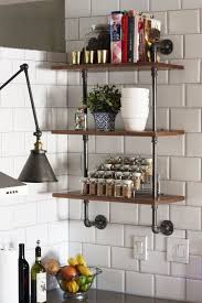 kitchen wall shelving ideas 18 best shelving images on kitchen walls open shelves