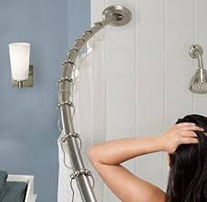 Curved Tension Shower Curtain Rods Amazon Com Maytex Curved Smart Rod Tension Shower Bar 73161006501