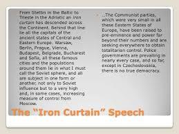 Summary Of Iron Curtain Speech The Cold War Origins