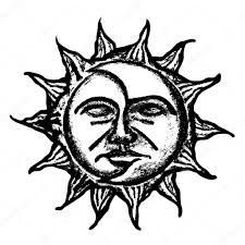 sun and moon vector sketch u2014 stock vector pizla09 51113851