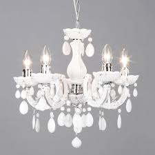 Chandelier Uk Therese 5 Light Dual Mount Chandelier White From Litecraft