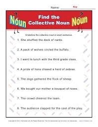collective noun worksheets find the noun