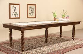 sold square 1900 antique oak dining table spiral legs extends