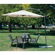11 Cantilever Patio Umbrella With Base by Coolaroo 10 U0027 Round Aluminum Cantilever Umbrella Multiple Colors