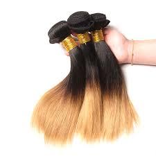 extension hair ombre hair bundles 1b 27 tone honey
