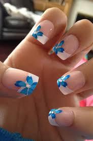n gel selber designen nägel selber gestalten 5 besten blue flowers nail design and