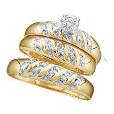 wedding trio sets and groom engagement wedding ring sets ebay