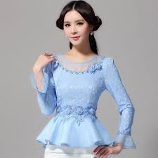 womens tops and blouses 2015 autumn lace tops fashion sleeved blouses