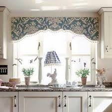 kitchen window valances ideas board mounted valance with shaped bottom and trim