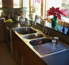 Kitchen  Compartment Sink Three Stainless Steel Commercial - Triple sink kitchen