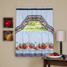Blue Swag Valance Buy Kitchen Valances And Swags From Bed Bath U0026 Beyond