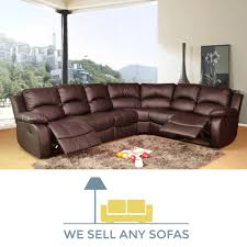 Brown Bonded Leather Sofa We Sell Any Sofas Crushed Velvet Leather Fabric U0026 Corner