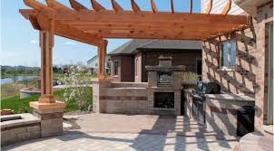 backyard kitchen ideas patio u0026 pergola awesome corner cabin style pergola with lantern