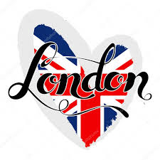 London Flag London Lettering Hand Written London Uk Flag In A Heart Shape