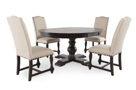 round dining sets five piece solid wood traditional round extension 48 u0027 u0027 to 66