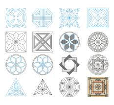 geometric ornaments 2 svg dxf pdf laser cutting and