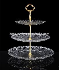 wedding serving dishes 3 tier heart shape fancy wedding glass snacks food serving trays