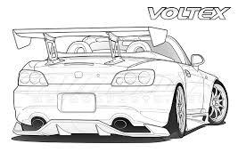 coloring pages drifting cars honda civic voltex cars coloring pages coloring pages free