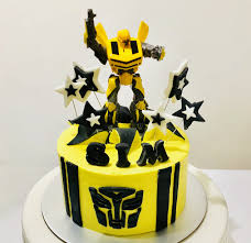 cake transformers transformers bumble bee buttercream cake white spatula