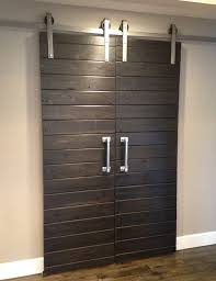 barn doors double door sliding barn door hardware kit for two doors