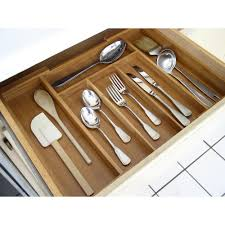 Bamboo Silverware Holder Home Basics Bamboo Expandable Cutlery Tray Bh01853 The Home Depot