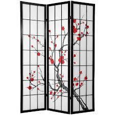 6 panel room divider 6 ft tall cherry blossom shoji screen roomdividers com