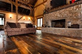 Living In A Barn Antique Historic Plank Flooring Barn Loft Rustic Living Room