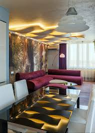 interior design wooden material combine ceiling ideas for living