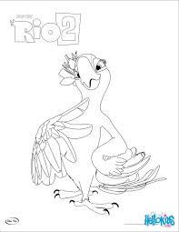 rio 2 perla coloring pages hellokids com