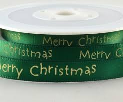 green satin ribbon green satin ribbon with christmas greeting 10mm x 20m ribbon writer