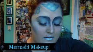 mermaid full face halloween makeup youtube