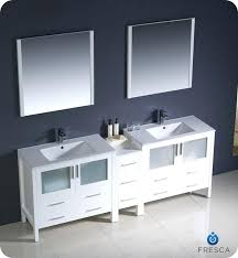 bathroom vanity with side cabinet 84 bathroom vanity modern double sink bathroom vanity w one side