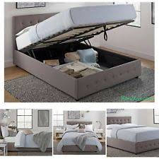 Full Platform Storage Bed Full Platform Storage Bed Grey Upholstered Linen Tufted Headboard