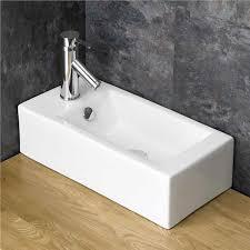 Narrow Rectangular Bathroom Sink 50cm X 24 5cm Narrow Rectangular Bathroom White Sink Space Saving