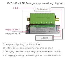 led ceiling downlight emergency power supply wiring