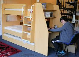 Bunk Bed With Workstation Olympic Bunk Beds With Trundle Bed And Workstation Desk Beech