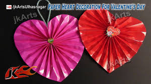 make paper heart decoration for valentines day skeebop haammss