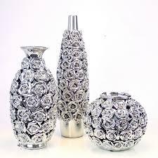 Silver Vases Aliexpress Com Buy 15 40 Cm Ceramic Gold Silver Vase Of Roses