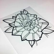how new rose drawing to draw a rose new skool tattoo style