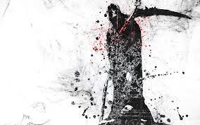 digital art artwork skull scythe grim reaper hoods dots
