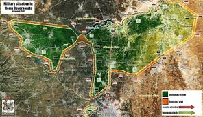 Syria War Map by Battle Map Of Northern Homs Syrian Army Prepares To Attack With