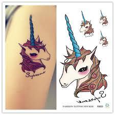 aliexpress com buy 10 cm fake waterproof tattoos unicorn tattoo