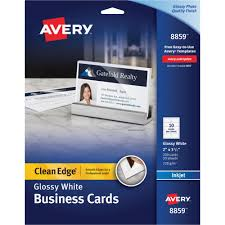Template For Business Cards 10 Per Sheet by Avery 8859 Clean Edge Inkjet Glossy Business Cards 2 X 3 1 2