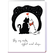 wedding anniversary cats greeting card by designs